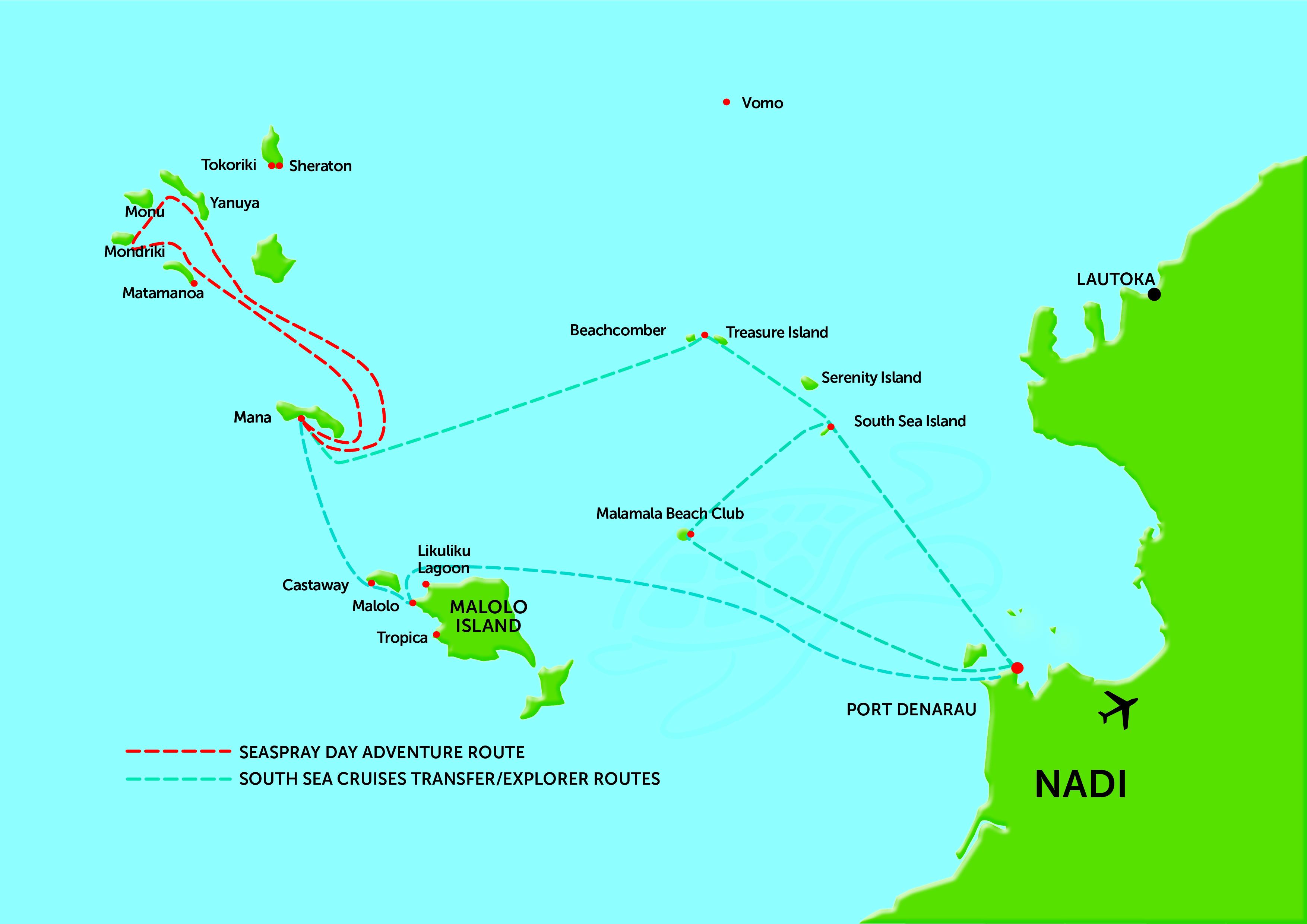 Fiji Island Resort Transfers & Connections | South Sea Cruises