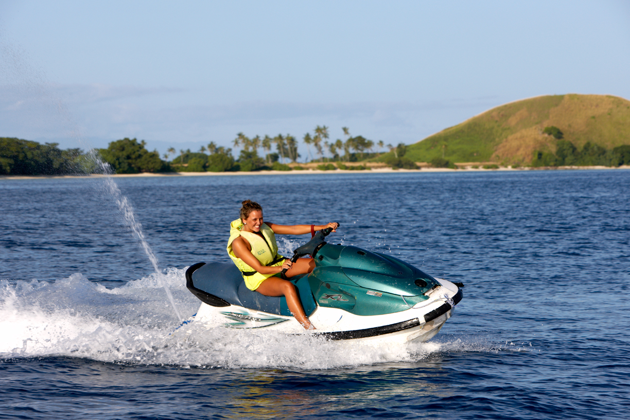 Watersports at Mana Island are awesome!