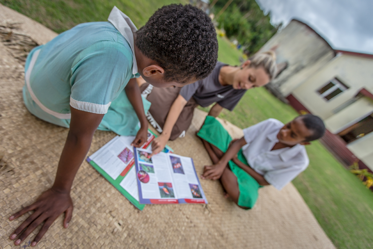 Teach children in Fiji's Yasawa Islands