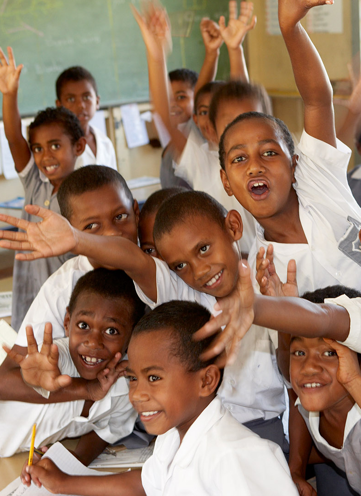 The school children of Fiji are delightful