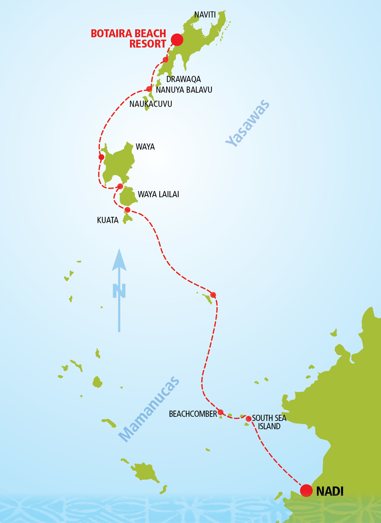 Botaira Day Cruise Route Map