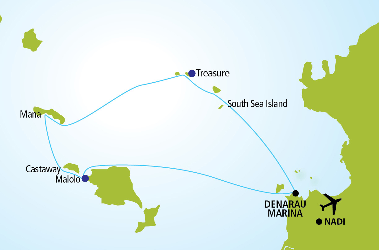 Fiji Island Explorer Route Map