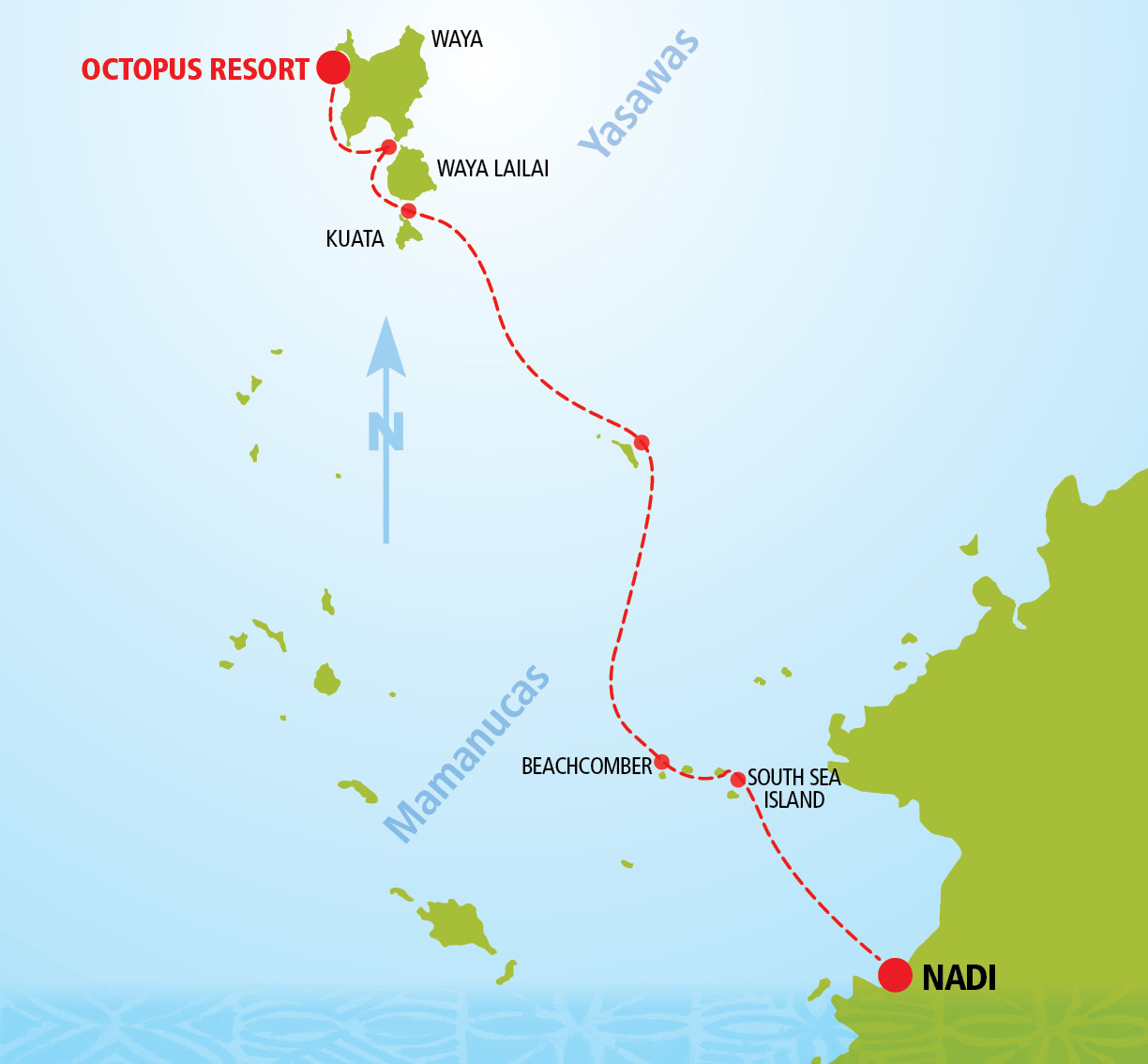 Octopus Day Cruise Route Map