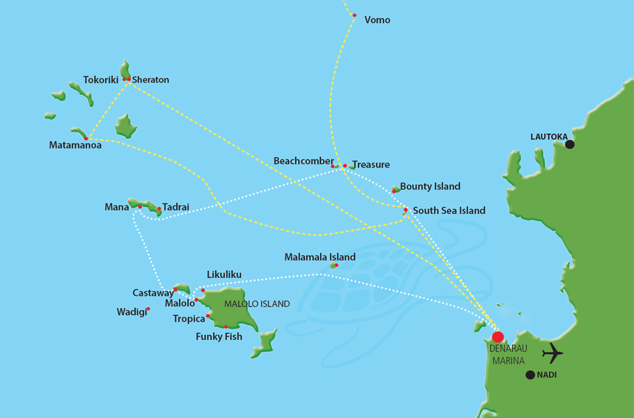South Sea Cruises Resort Connections Map